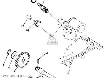 Yamaha Rd400 1978 Usa Tachometer Gear