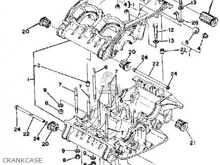 Yamaha RD400 1979 USA CRANKCASE