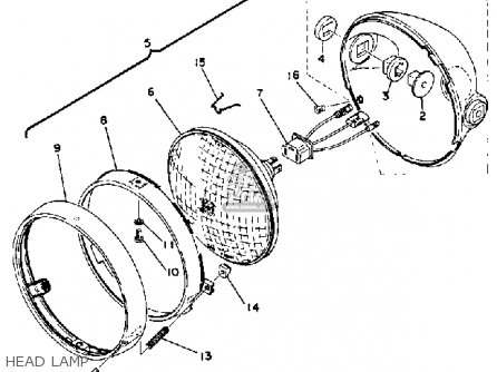yamaha rd400e 1978 parts list partsmanual partsfiche