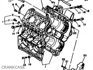 Yamaha Rd500lc 1985 1ge Europe 251ge-300e1 Crankcase