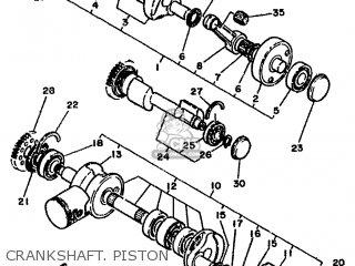 Yamaha Rd500lc 1985 1ge Europe 251ge-300e1 Crankshaft  Piston