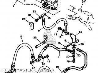 Yamaha Rd500lc 1985 1ge Europe 251ge-300e1 Front Master Cylinder
