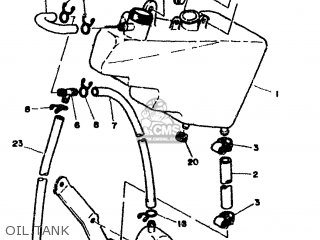 Yamaha Rd500lc 1985 1ge Europe 251ge-300e1 Oil Tank