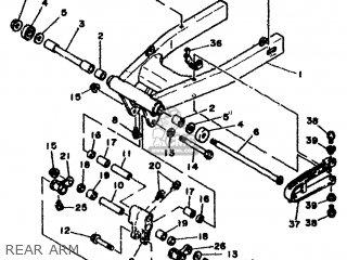 Yamaha Rd500lc 1985 1ge Europe 251ge-300e1 Rear Arm