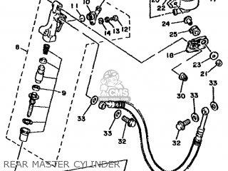 Yamaha Rd500lc 1985 1ge Europe 251ge-300e1 Rear Master Cylinder