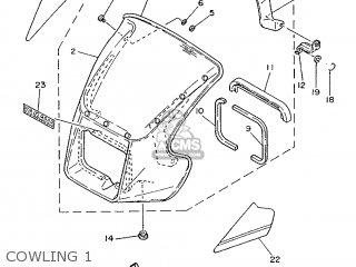 Yamaha Rd75lc 1991 1nm Spain 261nm-352s1 Cowling 1