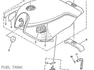 Yamaha Rd75lc 1991 1nm Spain 261nm-352s1 Fuel Tank