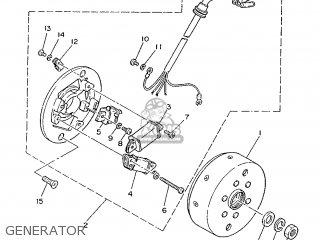 Yamaha Rd75lc 1991 1nm Spain 261nm-352s1 Generator