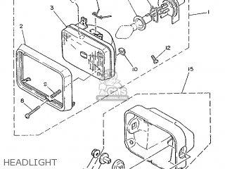 Yamaha Rd75lc 1991 1nm Spain 261nm-352s1 Headlight