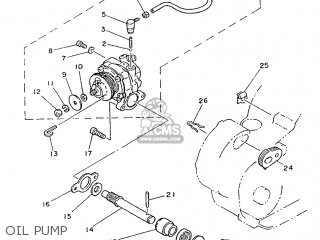 Yamaha Rd75lc 1991 1nm Spain 261nm-352s1 Oil Pump