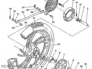 Yamaha Rd75lc 1991 1nm Spain 261nm-352s1 Rear Wheel