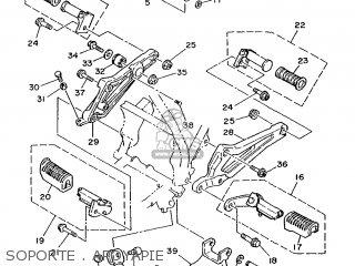 Yamaha Rd75lc 1991 1nm Spain 261nm-352s1 Soporte   Apoyapie