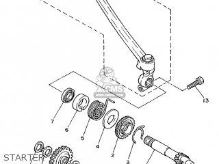 Yamaha Rd75lc 1991 1nm Spain 261nm-352s1 Starter