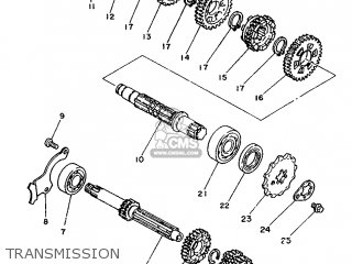 Yamaha Rd75lc 1991 1nm Spain 261nm-352s1 Transmission