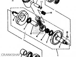 Yamaha Rd80 1982 12g Europe 2212g-300e1 Crankshaft  Piston