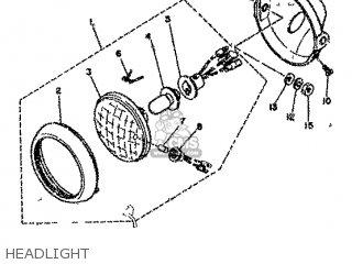 Yamaha Rd80 1982 12g Europe 2212g-300e1 Headlight