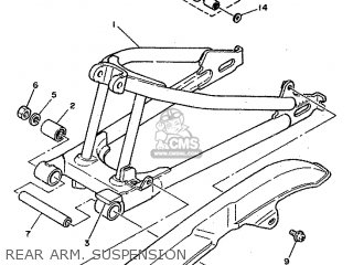 Yamaha Rd80 1982 12g Europe 2212g-300e1 Rear Arm  Suspension
