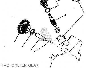 Yamaha Rd80 1982 12g Europe 2212g-300e1 Tachometer Gear