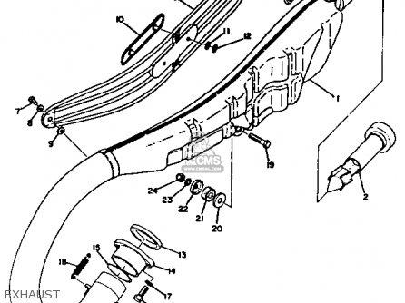Yamaha Rt3 1972 1973 Usa Exhaust