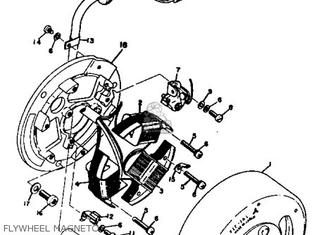 Yamaha Rt3 1972 1973 Usa Flywheel Magneto