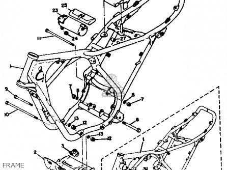 Yamaha Rt3 1972 1973 Usa Frame