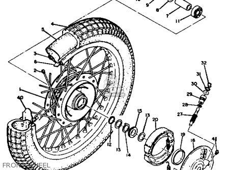 Yamaha Rt3 1972 1973 Usa Front Wheel