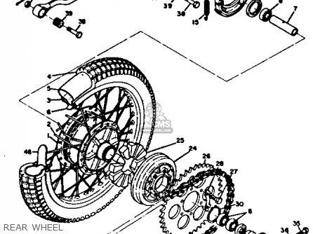 Yamaha Rt3 1972 1973 Usa Rear Wheel