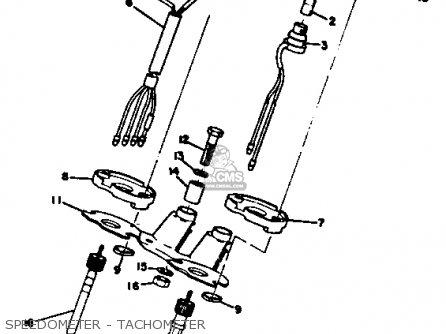 Yamaha Rt3 1972 1973 Usa Speedometer - Tachometer
