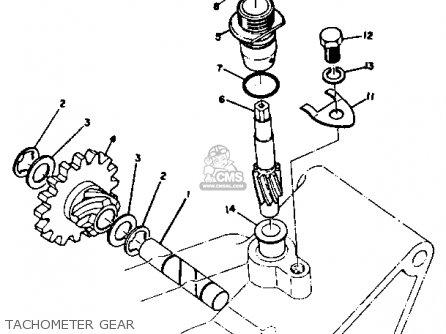 Yamaha Rt3 1972 1973 Usa Tachometer Gear