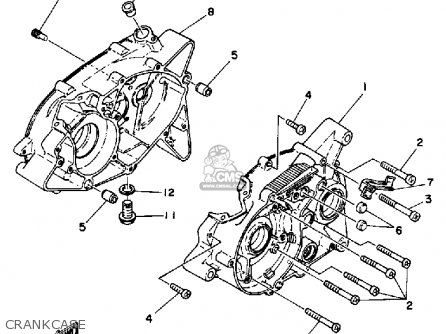 Yamaha Rx50k 50 Special  1983 1984 Crankcase