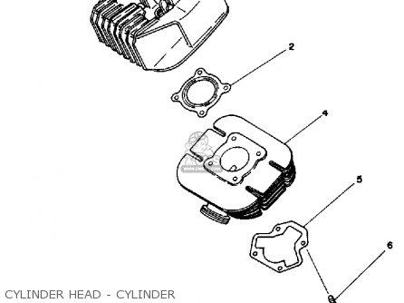Yamaha Rx50k 50 Special  1983 1984 Cylinder Head - Cylinder