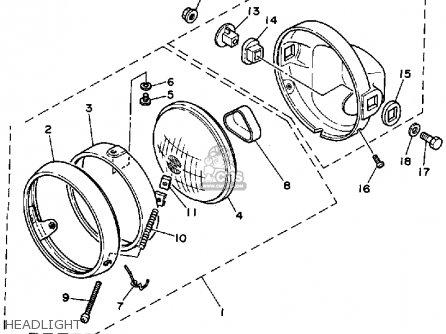 Yamaha Rx50k 50 Special  1983 1984 Headlight