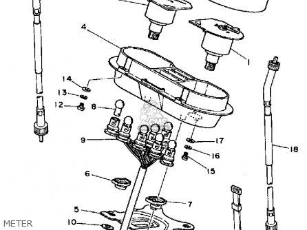 Yamaha Rx50k 50 Special  1983 1984 Meter