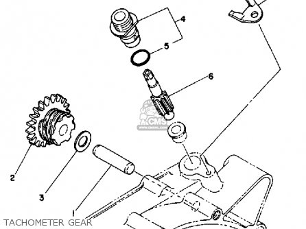 Yamaha Rx50k 50 Special  1983 1984 Tachometer Gear