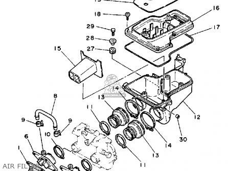 Yamaha RZ350 1984 (E) USA parts lists and schematics
