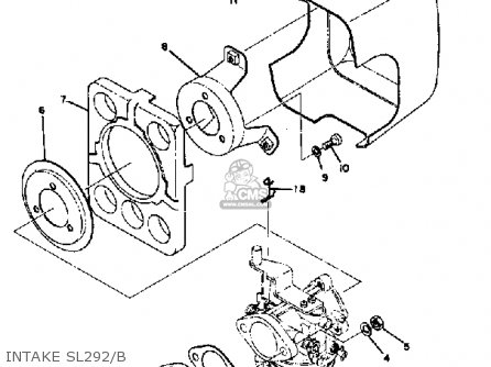 Yamaha Snowmobile Parts 1971 Sl292 Grip Wiring Sl292 B C Diagram