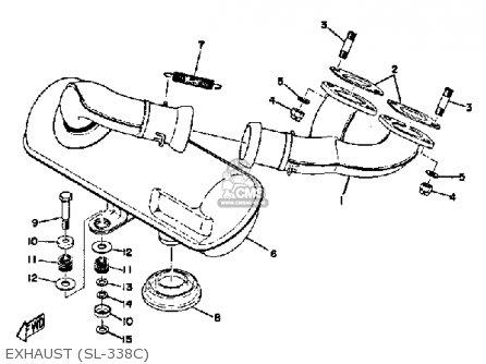 yamaha sl338c 1971  1972 parts list partsmanual partsfiche