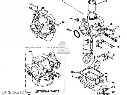 Yamaha Sl351 1968 Carburetor