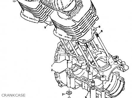 Yamaha Sl351 1968 Crankcase