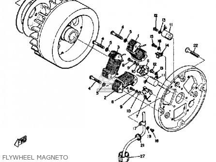 Yamaha Sl351 1968 Flywheel Magneto