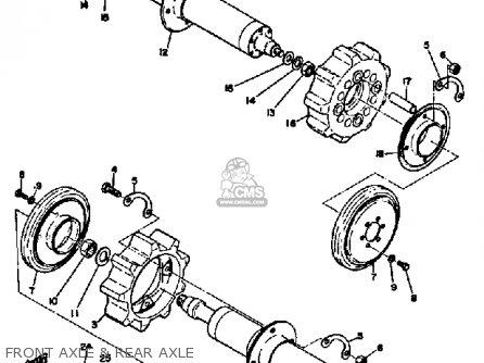 Yamaha Sl351 1968 Front Axle  Rear Axle