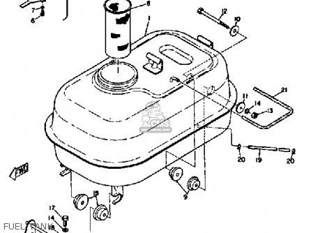 Yamaha Sl351 1968 Fuel Tank