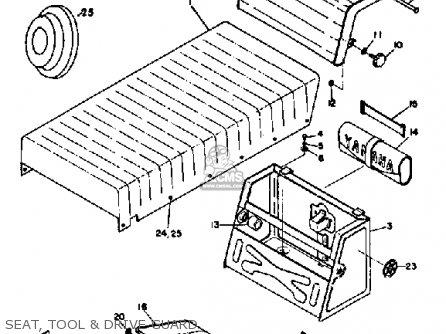 Yamaha Sl351 1968 Seat  Tool  Drive Guard