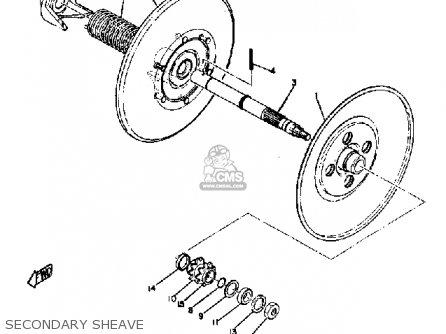 Yamaha Sl351 1968 Secondary Sheave