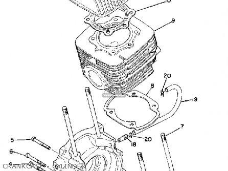yamaha sm292f 1974 parts list partsmanual partsfiche yamaha xt350 wiring diagram yamaha 292 wiring diagram