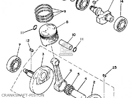 Part Diagrams Yamaha Sr250 1980