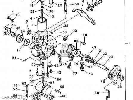 yamaha sr500g 1980 parts list partsmanual partsfiche