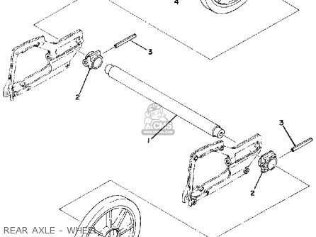 Diagram Of Yamaha Snowmobile Parts 1976 Srx440 Rear Axle Wheel