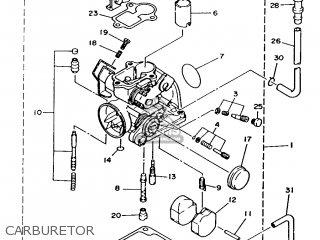 Yamaha T50 1986 2fm England 262fm-310e1 Carburetor