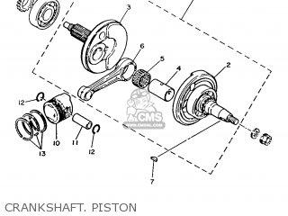 Yamaha T50 1986 2fm England 262fm-310e1 Crankshaft  Piston